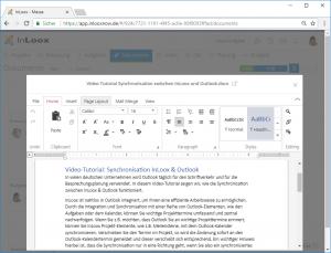 InLoox 10: Web App - Dokumente direkt im Browser bearbeiten